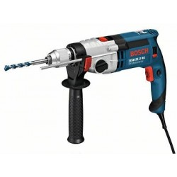 Perceuse à percussion 2 vitesses 1100W mandrin 13mm livrée en coffret GSB 21-2 RE BOSCH